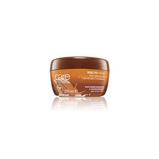 Восстанавливающий увлажняющий крем-суфле для тела с маслом какао и витамином Е, 200 мл