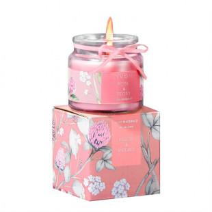 Ароматическая свеча с ароматом розы и пиона