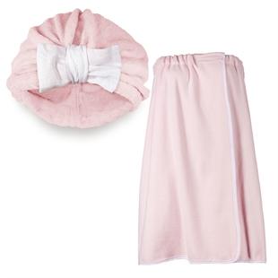 Банный набор (розовый)
