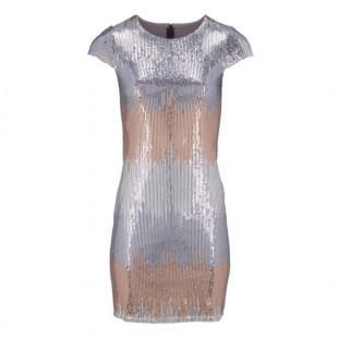 Женское платье с пайетками